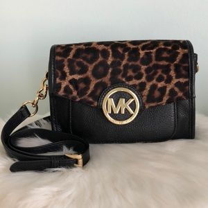 a3c4dba54f4a0a Michael Kors. MICHAEL KORS Leopard Calf Hair Leather Crossbody
